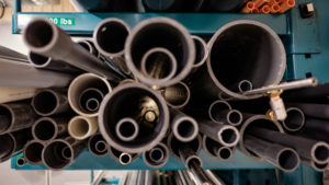 While walking around SNOLab in Sudbury, Ontario for World Physics Photowalk Day 2018, I noticed these pipes on a storage shelf. Being that we were in a physics lab, the shapes brought to mind the fractal nature of our universe, the shapes reminding me at the same time of the orbits of electrons around a nucleus, planets around stars, and stars in a galaxy etc, all nested in with one another.